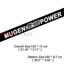 1PC White Color JDM Mugen Power Sun Visor Windshield HF Vinyl Car Sticker Decal