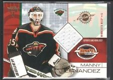 MANNY FERNANDEZ 2001/02 TITANIUM DRAFT DAY EDITION #44 GAME USED JERSEY SP $15