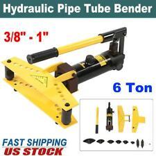 Pipe Bender6 Ton Manual Hydraulic Tube Bending Machine 6 Dies Tubing Tools Kit