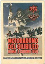 VINTAGE POSTCARD : ADVERTISING - ITALIAN : MOTOCYCLE MEETING 1950