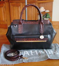 BRAHMIN TuckerTuscan Leather Satchel w/Detach., Adj. Strap+Dust Bag NWT $325