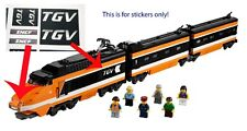 Custom TGV Stickers for LEGO 10233 Train Horizon Express SNCF Engine High Speed