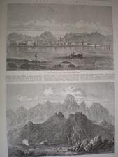 Corse France gravures et l'article 1864 OLD PRINTS