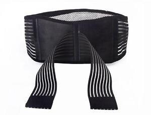 Magnetic Tourmaline Lower Back Support Waist Lumbar Brace Belt Strap Pain Relief