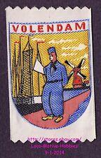LMH PATCH Woven Badge VOLENDAM Harbor WINDMILL Sea Port Dutch NETHERLAND Holland