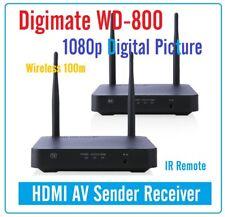 New Digimate WD-800 Wireless Digital HDMI AV Sender / Receiver Splitter Built in