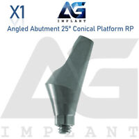 Angled Abutment 25° Conical Connection RP Titanium Abutment Dental Implant