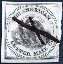 Sc# 5L2  US LOCAL CARRIER  American Letter Mail Co., (5c) Black on Gray 1845