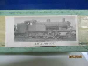 "A MILLHOLME GOLDCAST KIT TO CONSTRUCT A S.R / B.R "" Z "" CLASS 0-8-0 TANK LOCO"
