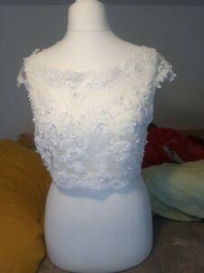 Size 12 Wedding dress Bolero Lace and Beading