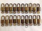 Authentic LOUIS VUITTON Lock Gold Tone Padlock Key 5I29990