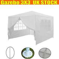 Party Tent Gazebo Marquee 3x3m With Unique WindBar 4 Side Walls Waterproof White