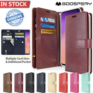 Galaxy S10 S10e S10+ Plus S9 S8 Note 9 Case Goospery Wallet Leather for Samsung
