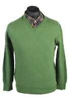 Vintage Howick Jumper Casual Pullover  Retro Winter Long Sleeve L Green - IL1654