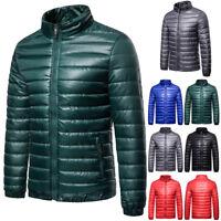 Men's Packable Ultralight Down Jacket Winter Stand Collar Puffer Outerwear Coat