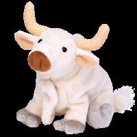 "TY Beanie Baby FROSTY the Bull 5""...NEW"