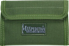 "Maxpedition Spartan Wallet OD Green 0229G 5 1/2"" x 3 1/2"" x 1/2"" closed. Contain"