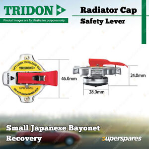 Tridon Safety Lever Radiator Cap for Toyota Hilux 55-65 85 90 106-130 180 185