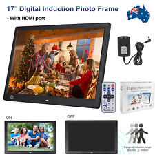 "17"" LED Digital Photo Picture Frame Movie MP4 Player Sensor Control + HDMI Port"
