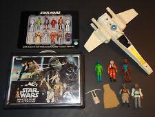 1977 Star Wars Lot-5 Figures! X-Wing Carrying Case KENNER Vintage Original
