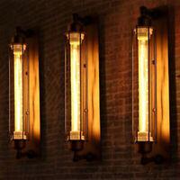 Black Vintage Industrial Metal Wall Lamp Sconce Light Fixture Edison Flute Wall