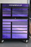 """Custom Printed Drawer covers for Snap on 40"""" Tool Chest (bottom and Top Box)"""