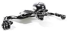 Skull Skeleton Skull visor chrome ornament Rear Light for Kawasaki Yamaha
