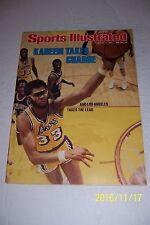 1977 Sports Illustrated LA Lakers KAREEM ABDUL JABBAR No Label TAKES CHARGE N/L