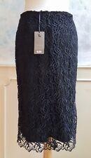 NEW + TAGS - TU Black Luxury Lace Romantic Steampunk Pencil Skirt Small 10