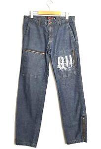 Quiksilver Mens 30 x 32 VTG 90's Grunge Surfer Skater Baggy Jeans Zipper Pockets