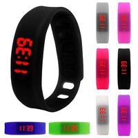 Uomo Donna Data Rubber LED Orologio Gli sport Bracelet Digital Orologio Da Polso