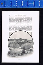 Ruins of Olympia, Greece, Site of Ancient Greek Olympics -1901 Historical Print