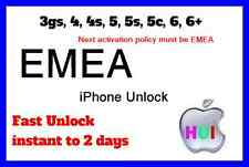 Fastest Factory Unlock for iPhone locked to EMEA carrier 3gs 4 4s 5 5s 5c 6 6+