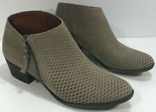 American Eagle Ankle Bootie Boots Size 10 Perforated Brown Zip Up