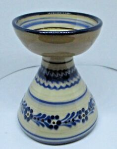 """Lovely scottish pottery vase?marked with star 4"""" tall #S3"""