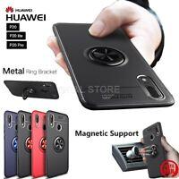 COVER per Huawei P20/Lite /Pro TPU FINGER RING 360° con SUPPORTO MAGNETICO AUTO