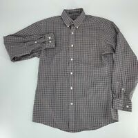 Eddie Bauer Mens Shirt Size S Wrinkle Free Relaxed Fit Size S Gingham Plaid Red