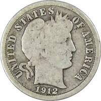 Barber Dime G Good Random Date 90% Silver 10c US Type Coin Collectible