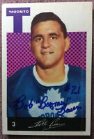 "**SIGNED** 1962-63 Parkhurst #3 BOB BAUN *INSCRIBED* ""BOOMER"" ~ *EX/NM*"