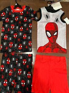 new boys Marvel Spyderman 2 sets pajamas red t shirt shirt- 5T,6T,7T,8T