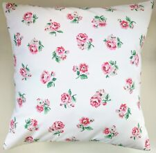 """Shabby Chic Cushion Cover in Cath Kidston Ashdown Rose White Floral 16"""""""