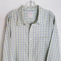 Brooks Brothers Mens Plaid Button Front Casual Shirt Size 2XL Big XXL/R TP721