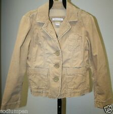 Abercrombie & Fitch Woman's Small Light Brown Cream Corduroy Jean Jacket Coat