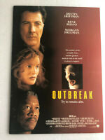 "Japan movie souvenir program ""Outbreak"" Dustin Hoffman,Rene Russo,Morgan Freeman"