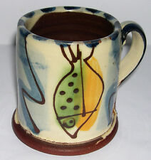 Kevin Warren Studio Pottery - Decorative Fishes Mug - Potters Mark.