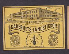 Ancienne étiquette de paquet allumette  Suède BN20169 Fourmis Usine 2