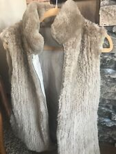 Women's Size 8 Brand New Reversible Brown Vest Real  Fur Quilted