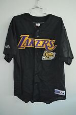 2001 MAJESTIC Los Angeles Lakers NBA Finals Champion Baseball Jersey Men L Kobe
