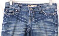 BKE Buckle Stella Stretch Boot Cut Thick Stitch Pockets Denim Jeans Women's 27
