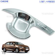 Suzuki Ciaz Chrome Door Handle Insert Bowl 4Dr Trim Cover Sedan 2015 2016 2017